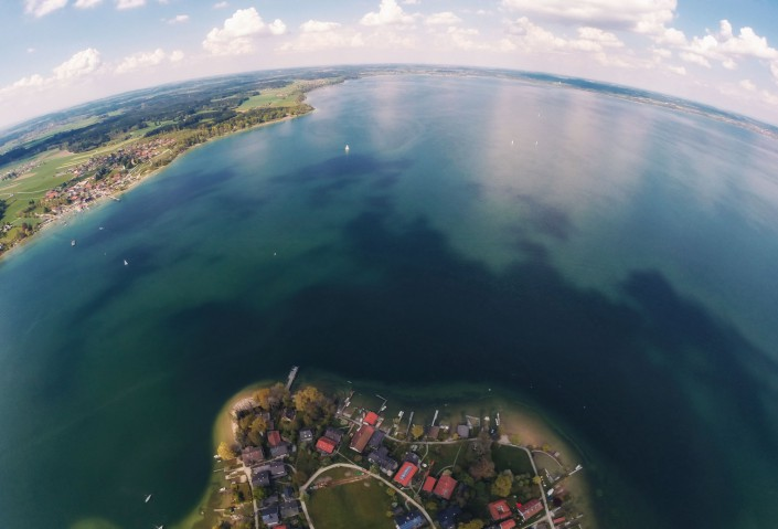 Luftaufnahme Quadcopter Drohne GoPro Aerial Chiemsee Fraueninsel