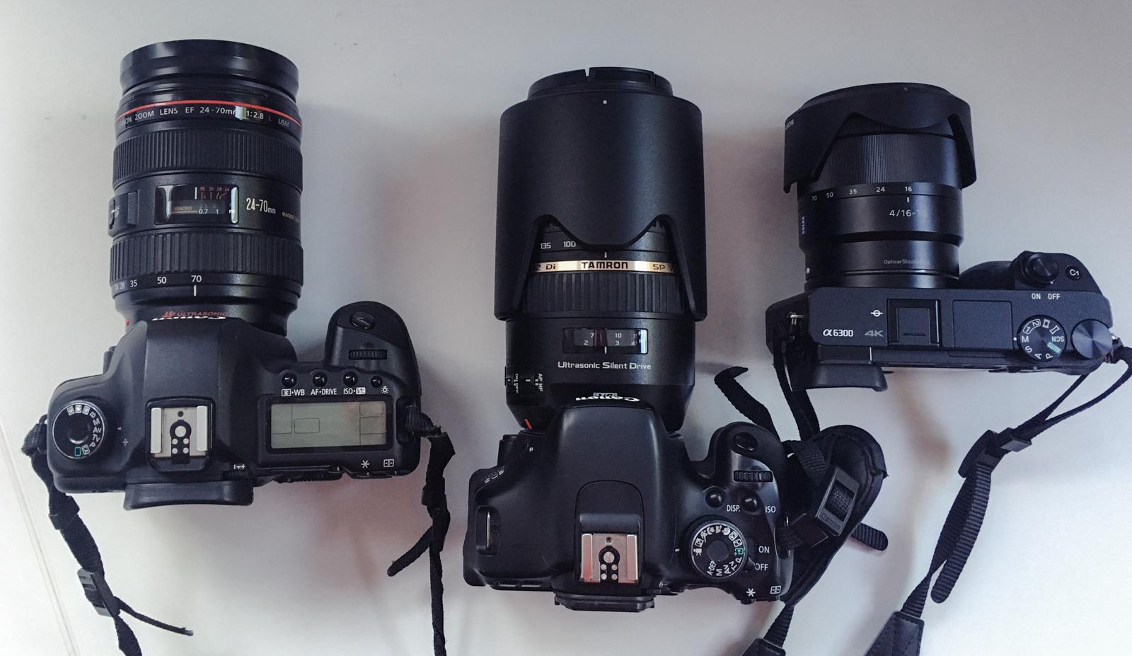 Thomas Brand Equipment Ebersberg München Fotografie Fotograf Cinemagraph Portrait Fashion Video Blog Kamera Sony Canon Alpha 6300 Zeiss Ausrüstung